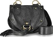 See By Chlo ,  Collins Black Leather Crossbody Bag Wtassels