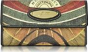 Gattinoni ,  Planetarium Coated Canvas Zip Pocket Women's Wallet