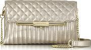 Roccobarocco , Laminated Quilted Eco Leather Clutch