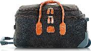 Brics , Life Medium Olive Green Micro Suede Rolling Duffle Bag