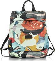 Paul Smith , Men's Cycling Caps Print Backpack