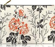 Victoria Beckham ,  Floral Printed Leather Large Simple Pouch