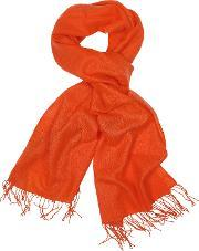 Coveri Collection , Fringed Solid Wool And Cashmere Wrap