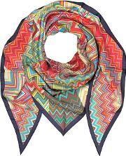 Missoni ,  Multicolor Printed Pure Silk Triangle Scarf