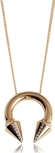 Vita Fede , Titan Side Crystals Rose Gold Tone Necklace