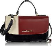 Roccobarocco , Medium Patent Eco Leather Satchel Bag