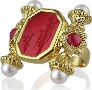Tagliamonte ,  Classics Collection - Pearls & Rubies 18k Gold Ring