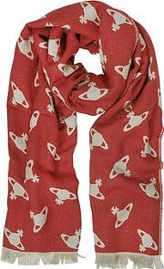 Vivienne Westwood , Absence Of Orbs Print Wool Blend Stole