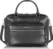 Armani Jeans ,  Black Eco Leather Men's Briefcase