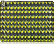 Kenzo , Black & Multicolor Geometric Print Leather Clutch
