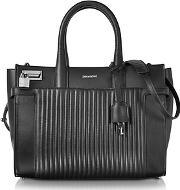Zadig & Voltaire ,  Black Leather Candide Medium Tote Bag