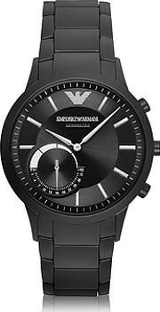Emporio Armani ,  Connected Black Pvd Stainless Steel Hibrid Men's Smartwatch