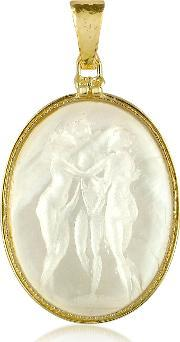Tagliamonte , Three Graces 18k Gold Mother Of Pearl Cameo Pendant
