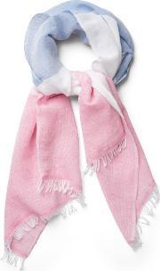 Gant , Color Block Scarf Bright Pink