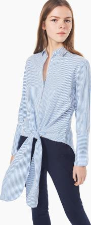 Gant , Crinkle Dreamy Oxford Knot Shirt Blue Lagoon