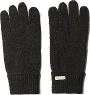 Gant , Solid Knit Gloves Black