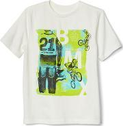 Gap , Graphic Short Sleeve Tee New Off White