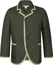 Comme Des Garcons Shirt Boy , Quilted Blazer Jacket Green