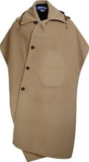Junya Watanabe Man For Comme Des Garcons , Backless Wool Poncho Camel