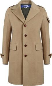 Junya Watanabe Man For Comme Des Garcons , Military Wool Coat Camel