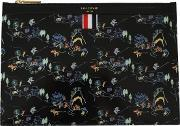 Thom Browne , Classic Oriental Print Leather Tablet Holder