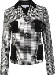 Comme Des Garcons Girl , Houndstooth Buttoned Blazer Blackoff White