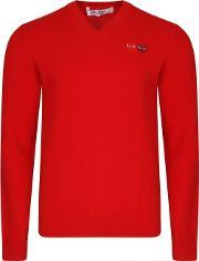 Comme Des Garcons Play , Men's Play Twin Heart Logo Jumper Red