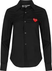 Comme Des Garcons Play , Play Women's Red Heart Shirt Black