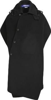 Junya Watanabe Man For Comme Des Garcons , Backless Wool Poncho Black