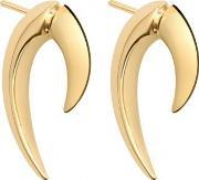 Shaun Leane , Gold And Silver Vermeil Talon Earrings Gold