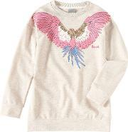 Bench , Girls Eagle Jumper, Beige