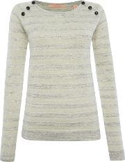 Maison Scotch , Pullover Knitted Jumper With Button Detail, Cream