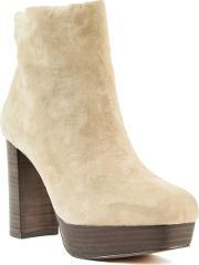 Shellys London , Hammersmith Stacked Platform Ankle Boots, Cream