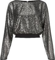 Ariella , Tia All Over Sequin Top, Gunmetal