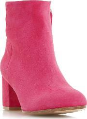 Dune Black , Orsen Classic Leather Ankle Boots, Pink