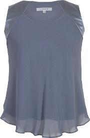 Chesca , Chiffon Camisole With Jersey Lining, Grey