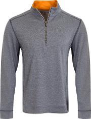 Calvin Klein Golf , Men's  Trek Half Zip Jumper, Denim