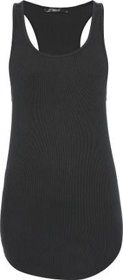Replay , Ribbed Cotton Top, Black