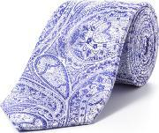 Paul Costelloe , Purple Intricate Paisley Tie, Purple