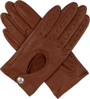 Dents , Women S Leather Driving Gloves, Cognac