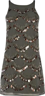 Alice & You , Embellished Dress, Charcoal