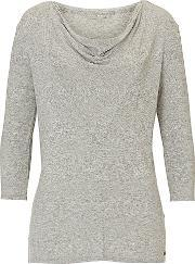 Betty & Co , . Fine Knit Tunic Top, Grey