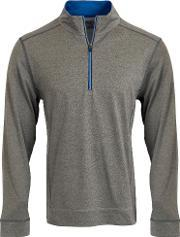 Calvin Klein Golf , Men's  Trek Half Zip Jumper, Charcoal