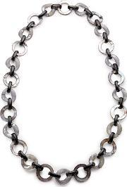 East , Horn And Shell Link Necklace, Granite