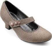 Hotter , Charmaine Ladies Touch Close Court Shoe, Grey