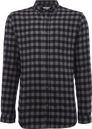 Jack & Jones , Men's  Check Long Sleeve Cotton Shirt, Grey