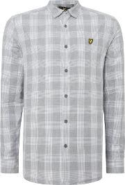Lyle And Scott , Men's  Long Sleeve Block Check Shirt, Grey