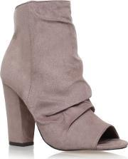 Miss Kg , Sybil High Heel Ankle Boots, Taupe