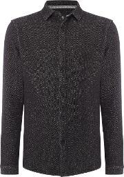 Only & Sons , Men's  Cotton Long Sleeve Over Shirt, Dark Grey Marl