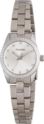 Pilgrim , Silver Plated Watch, Silver